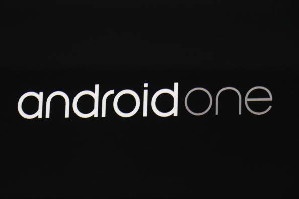 An Android one sign is seen on stage during the Google I/O Developers Conference at Moscone Center on June 25, 2014 in San Francisco, California.