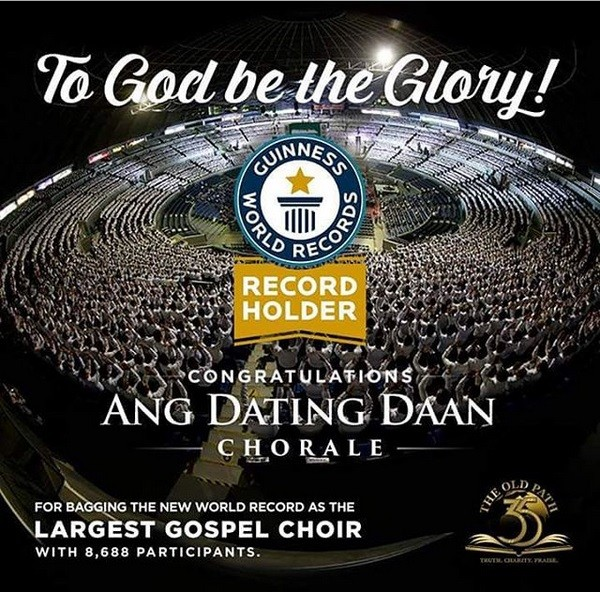MCGI Bags New Largest Gospel Choir Record