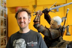 Marcin Iwinski, co-founder of CD Project Red company which created computer game 'The Witcher 3: Wild Hunt' is pictured in the headquarters of the company in Warsaw, Poland on June 2, 2015.