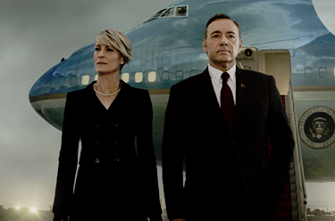 "Frank (Kevin Spacey) and Claire Underwood (Robin Wright) from ""House of Cards"" season 4"