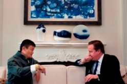 British Prime Minister David Cameron met with Alibaba's Jack Ma during his three-day trade mission to China in 2013.