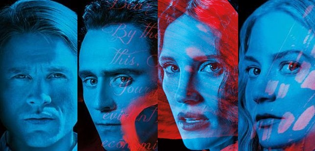 "Guillermo del Toro's ""Crimson Peak"" stars Charlie Hunnam, Tom Hiddleston, Mia Wasikowska, and Jessica Chastain, among others."