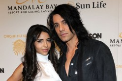 Criss Angel seen here with his fiance, Sandra Gonzalez, at the Mandalay Bay Resort and Casino in Las Vegas.