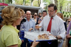 Mariano Rajoy supports his candidates for Madrid during an electoral campaign event