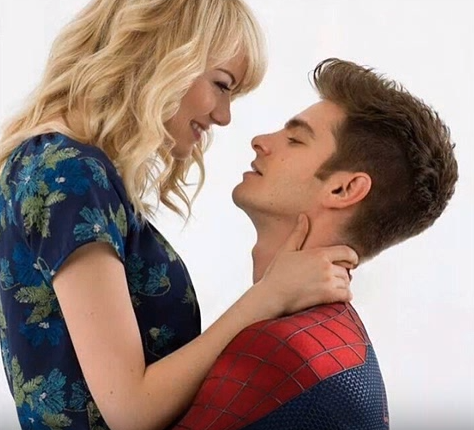 Emma Stone and Andrew Garfield in 'Amazing Spiderman' photo shoot