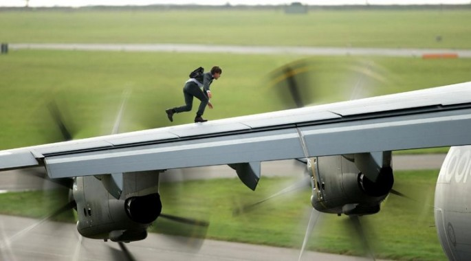 "Tom Cruise is Ethan Hunt in Christopher McQuarrie's ""Mission: Impossible - Rogue Nation."""