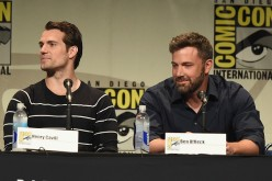 Actors Henry Cavill (L) and Ben Affleck from 'Batman v. Superman: Dawn of Justice' attend the Warner Bros. presentation during Comic-Con International 2015