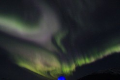 The Northern Lights, 2015 October 9. Imaged from the M/V
