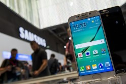 A Samsung Galaxy S6 edge smartphone is on display at the booth of South Korean electronics giant Samsung ahead of the opening of the 55th IFA (Internationale Funkausstellung) electronics trade fair in Berlin on September 3, 2015.