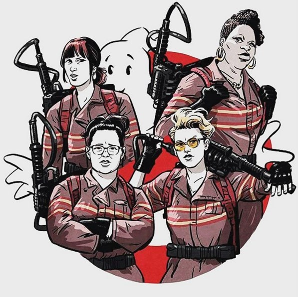 Kristen Wiig, Leslie Jones, Kate McKinnon, and Melissa McCarthy are Paul Feig's Ghostbusters.