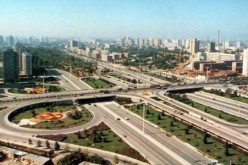 The Sanyuanqiao overpass is one of the busiest thoroughfares in Beijing.