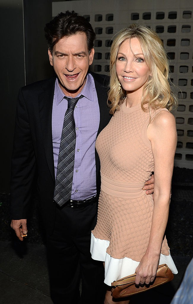 "Actor Charlie Sheen was with actress Heather Locklear at the premiere of ""Scary Movie 5."""