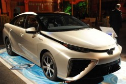 Toyota launches Mirai in California, the company's first fuel cell vehicle, with an aim to produce 30,000 units annually by 2020.