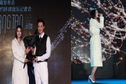 """Two friends, one passion: (L) Tan Weiwei and Wang Tao during a promotional event for Tao's album, """"Night & Day,"""" held in Beijing on Nov. 2. (R) Sharing the stage together, performing """"Good Times."""""""