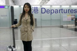 Anastasia Lin, Miss World Canada, was stranded at Hong Kong airport.