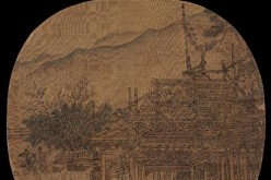 """Building Built in Map,"" a work dated from the Song and Yuan Dynasties, was sold during the Kansai Art Auction's autumn event to Chinese billionaire Liu Yiqian for 99.93 million yen ($813,166)."