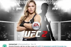 Ronda Rousey will be on the cover of #UFC 2.