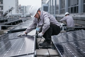 A new funding model may allow free installation of rooftop solar panels to houses and businesses, which would boost China's renewable energy target.