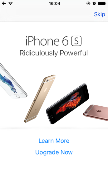 iPhone 6s Appe Store Ad