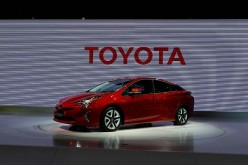 Toyota Motor Corp.'s new Prius hybrid car is displayed during its Japan launch event in Tokyo.