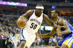 Memphis Grizzlies power forward Zach Randolph (L).