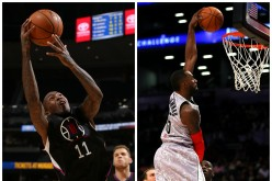 Los Angeles Clippers' Jamal Crawford (L) and Minnesota Timberwolves Shabazz Muhammad. L.A. could deal Crawford in exhange for Muhammad if the Wolves agree.