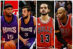 NBA Trade Rumors (from L to R): DeMarcus Cousins, Marco Belinelli, Joakim Noah, and Taj Gibson.