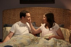 """The Big Bang Theory"" stars Jim Parson and Mayim Bialik as Sheldon and Amy."