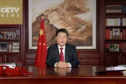President Xi Jinping's New Year speech was broadcast over CCTV.