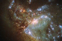 This image, taken with the Wide Field Planetary Camera 2 on board the NASA/ESA Hubble Space Telescope, shows the galaxy NGC 6052, located around 230 million light-years away in the constellation of Hercules.