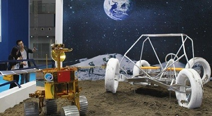 A prototype of the manned moon rover was shown at the 11th China Chongqing Hi-tech Fair in 2014, as part of China's efforts to send manned missions to the moon in the future.