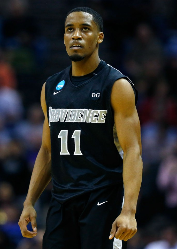 Point guard Bryce Cotton during his college stint at Providence.