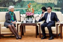Premier Li Keqiang meets with International Monetary Fund (IMF) chief Christine Lagarde during the China Development Forum in Beijing in March 2015.