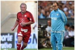 Football managers Zico (L) and Marcelo Bielsa are among the candidates for the vacant China PR head coaching job.