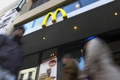 A McDonald's sign outside one of their restaurants in central Brussels, Belgium, Dec. 3, 2015.