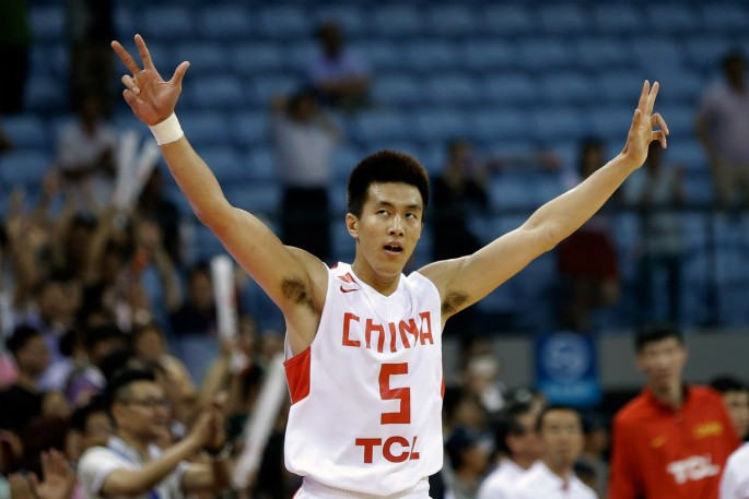 Liaoning Flying Leopards shooting guard Guo Ailun.
