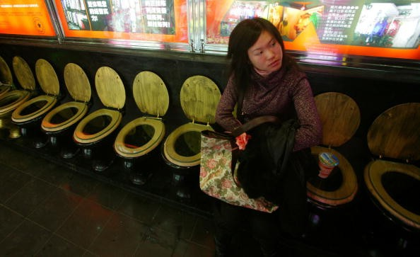 Seats In The Shape Of Western-Style Toilets Appear In Nanjing