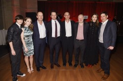 Keidrich Sellati, Holly Taylor, Eric Schrier, Matthew Rhys, Joel Fields, Joseph Weisberg, Keri Russell and guest attend the 'The Americans' Season 4 premiere on March 5, 2016 in New York City.