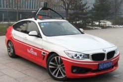 Baidu's self-driving car prototype. The Chinese Internet giant plans to test the vehicle on U.S. roads later this year.