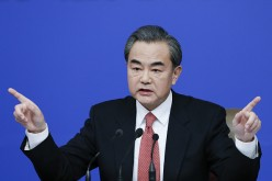China's foreign minister Wang Yi attends a press conference during the Fourth Session of the 12th National People's Congress (NPC) in Beijing, China, on March 8, 2016.
