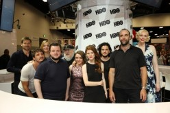 Nikolaj Coster-Waldau, Pedro Pascal, Sophie Turner, John Bradley-West, George R. R. Martin, Maisie Williams, Rose Leslie, Kit Harington, Rory McCann and Gwendoline Christie of 'Game of Thrones' attend Comic-Con International 2014.