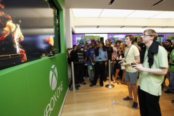 Microsoft retail store hosts Xbox One midnight launch event featuring a Killer Instinct ultra gaming tournament in Houston