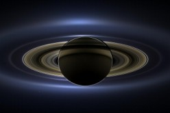 In this handout from NASA, the planet Saturn is seen backlit by the sun, sent Cassini spacecraft July 19, 2013 in space. NASA unvieled the image, that spans 404,880 miles (651,591 kilometers) across, November 12, 2013.