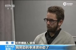 A screencap of Swedish national Peter Dahlin during his televised confession. Several countries and human rights groups have aired their concern over such practices by the Chinese government.