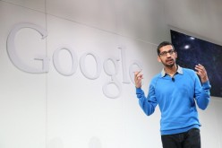 Sundar Pichai, Google's senior vice president in charge of Android and Chrome, speaks during a special event at Dogpatch Studios.