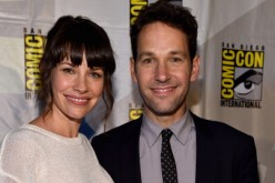 Actors Evangeline Lilly (L) and Paul Rudd attend Marvel's Hall H Panel for 'Ant-Man' during Comic-Con International 2014 at San Diego Convention Center.