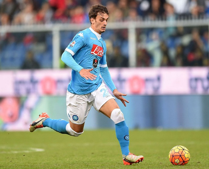 Napoli striker Manolo Gabbiadini.