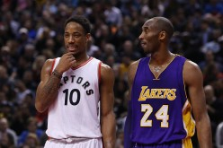 DeMar DeRozan and Kobe Bryant