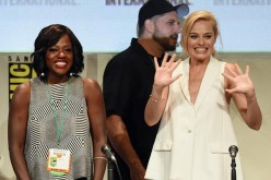 Viola Davis and Margot Robbie with David Ayer present