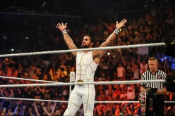 Seth Rollins enters the ring at the WWE SummerSlam 2015
